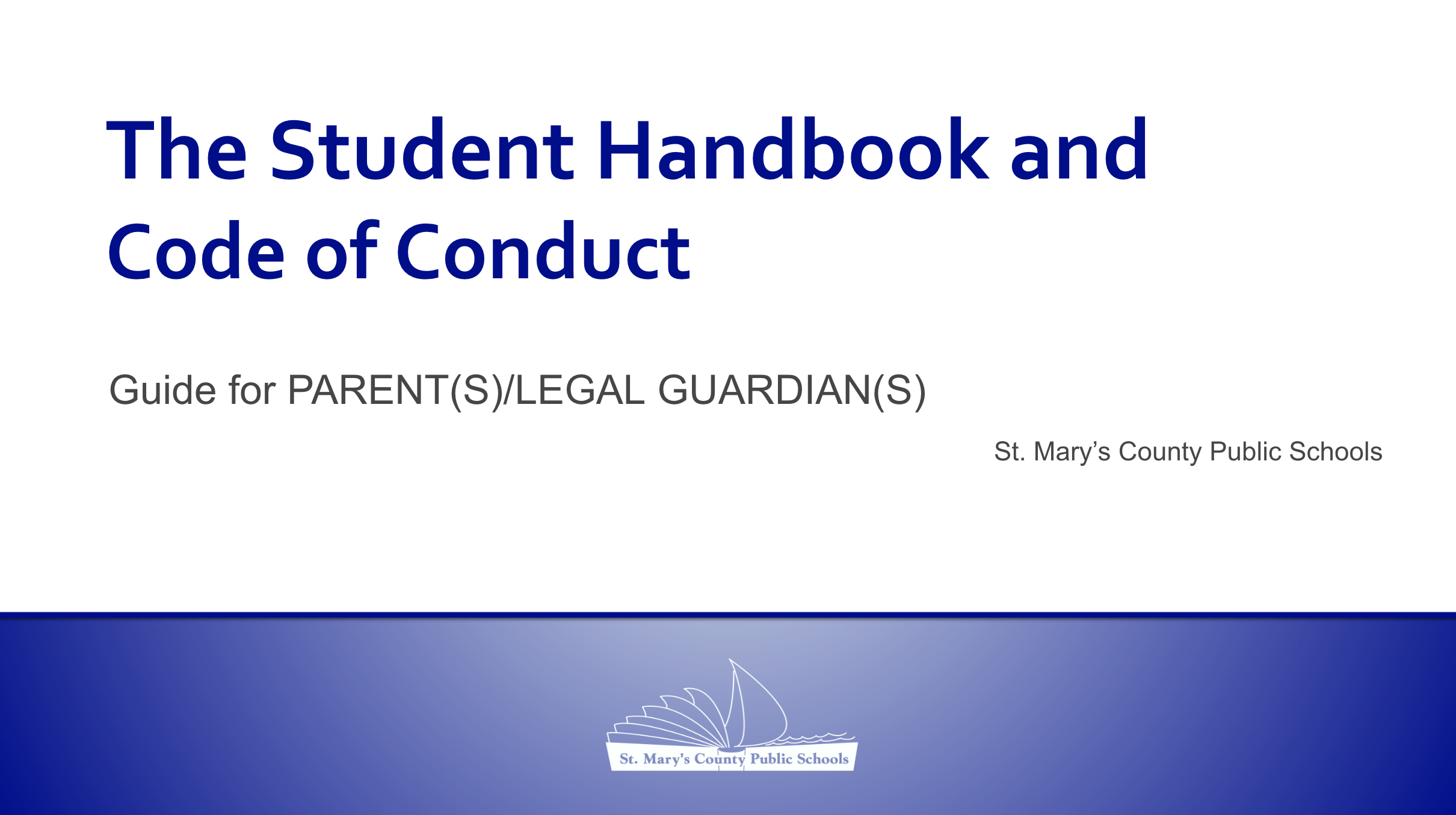 Student Handbook Powerpoint Thumbnail   Parents